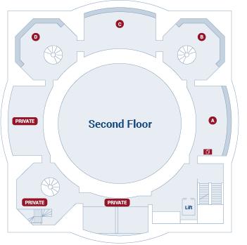 Law Library of Victoria second floor floor plan