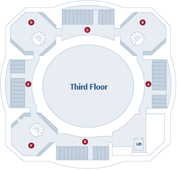 Law Library of Victoria third floor floor plan