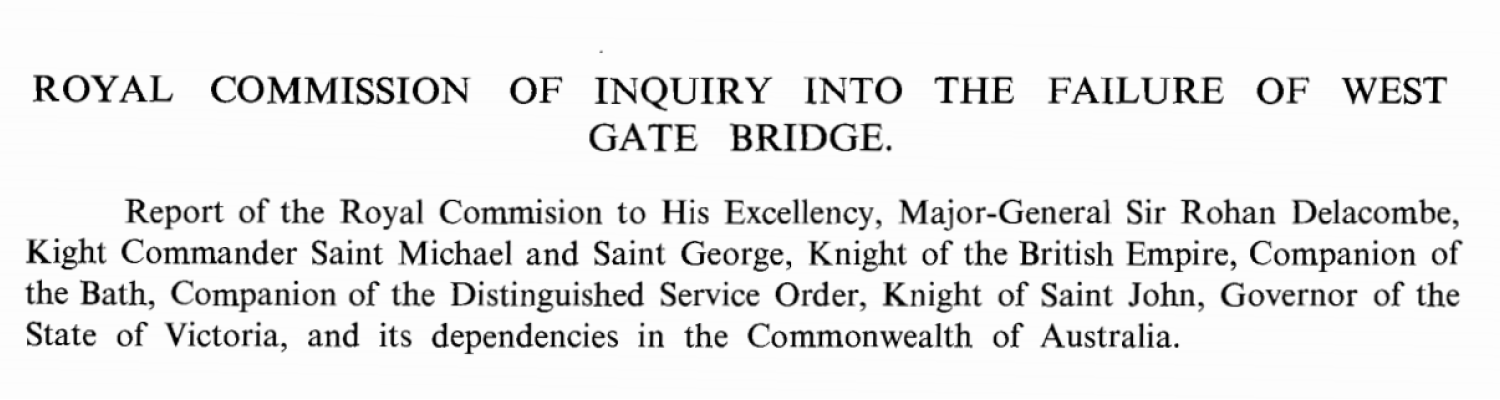 West Gate Bridge Royal Commission