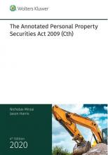 The Annotated Personal Property Securities Act 2009