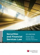 Securities and financial services law cover