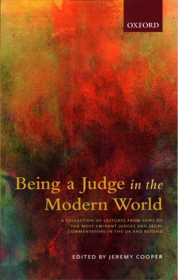 Being a judge in the modern world cover
