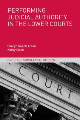 Performing judicial authority in the lower courts cover