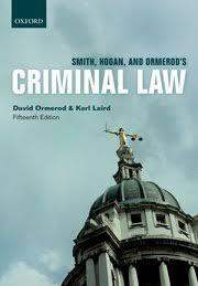 Smith, Hogan and and Omerod's criminal law