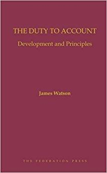 The duty to account : development and principles cover
