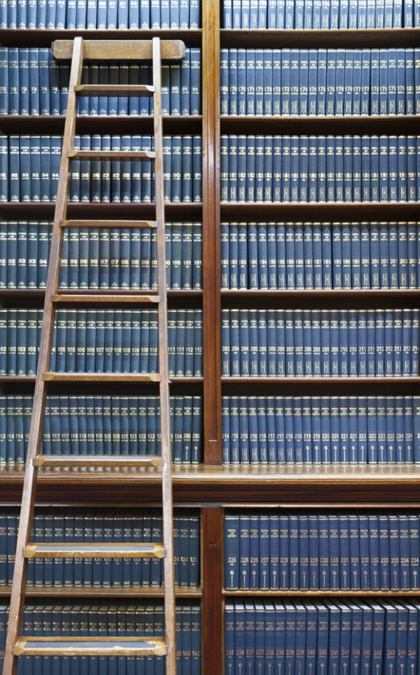 Image of books on shelf