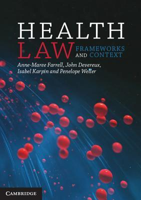 Health law : frameworks and context cover