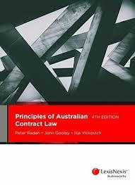 Image of Principles of Australian contract law: cases and materials